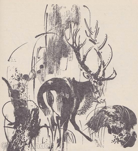 Jeleň s fajkou